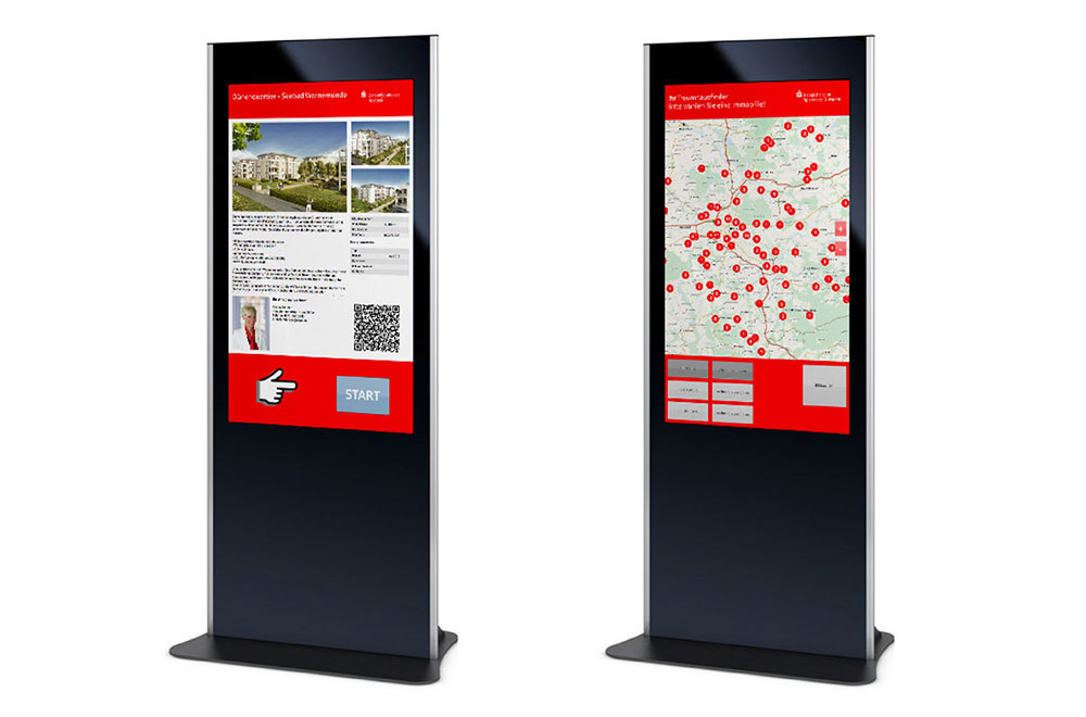 Ostsächsiche Sparkasse Dresden – Digital Signage Real Estate Finder Frontend (in cooperation with Xaa-Systems GmbH)